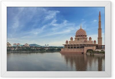 Gerahmtes Poster Putra Moschee und Putrajaya, Malaysia