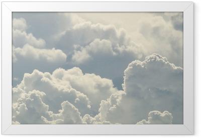 Póster com Moldura Céu azul e nuvens bonitas