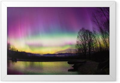 Poster en cadre Uncommon Aurora Borealis dans le Vermont. - Nature et régions sauvages