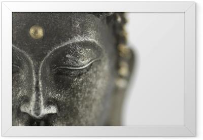 Póster Enmarcado Statue de bouddha sur blanc