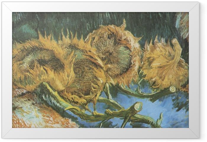 Poster en cadre Vincent van Gogh - Quatre tournesols coupés - Reproductions