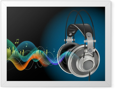 Headphones Framed Poster