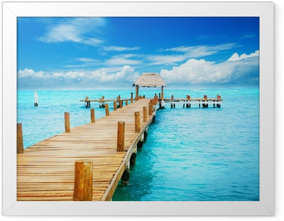 Poster in Cornice Vacanze in Tropic Paradiso. Jetty su Isla Mujeres, Messico