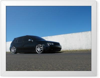 Plakat w ramie Czarny samochód