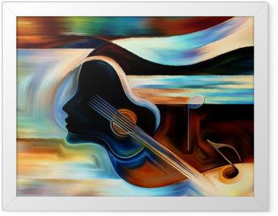 Gerahmtes Poster Material der Musik
