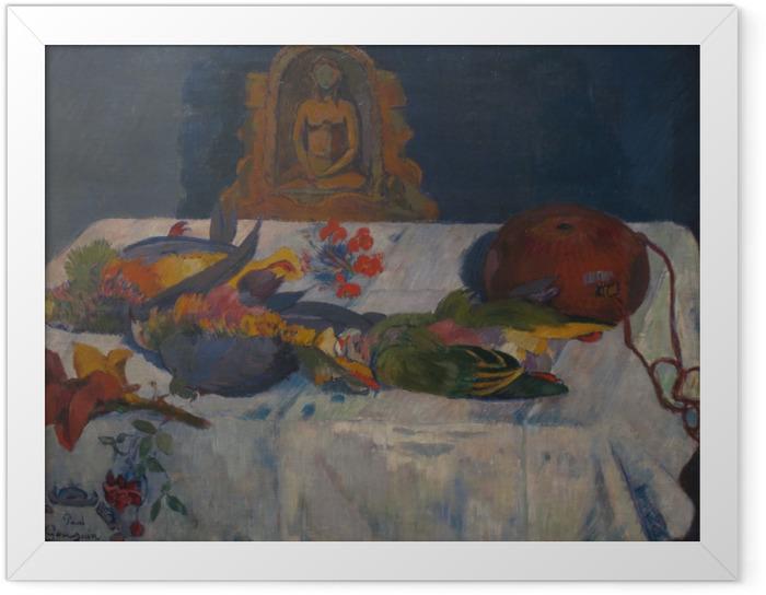 Plakat w ramie Paul Gauguin - Martwa natura z papugami - Reprodukcje