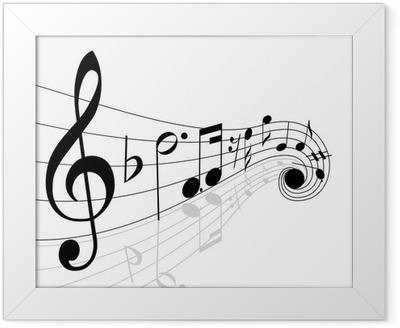 Poster en cadre Les notes de musique - Musique
