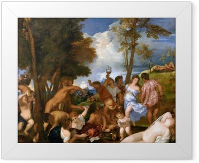 Poster en cadre Titien - Arrivée de Bacchus sur l'île d'Andros