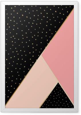 Ingelijste Poster Abstracte Geometrische compositie.