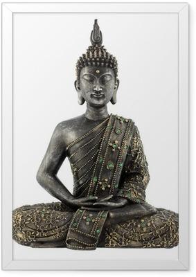 Gerahmtes Poster Bouddha statue de bronze zen