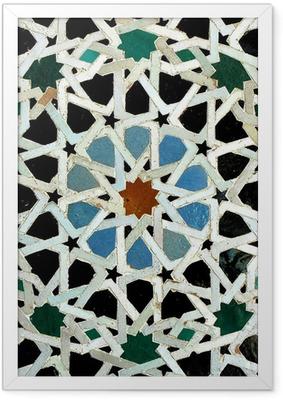 Gerahmtes Poster Zelliges (Fes, Marokko)