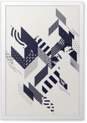 Plakat w ramie Streszczenie nowoczesne geometryczne tło