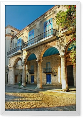 Colonial architecture in Havana Framed Poster