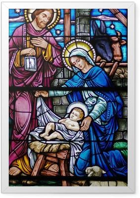 Farvet glas enke af fødsel Indrammet plakat