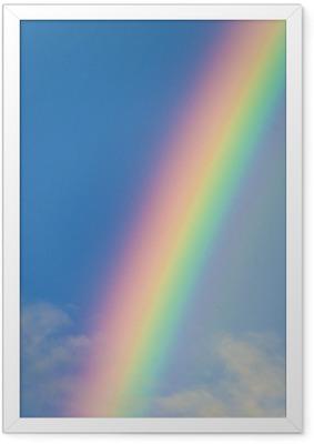 Póster com Moldura Rainbow
