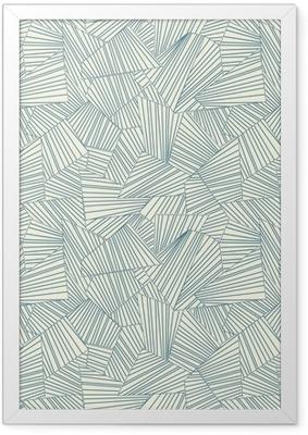 lattice pattern Framed Poster