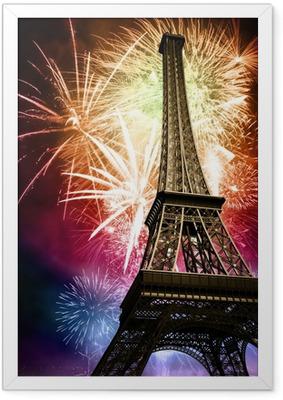 Ingelijste Poster Eiffel met vuurwerk