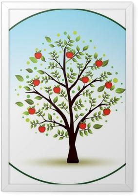 Poster en cadre Beautiful vecteur de pommier - Pommiers
