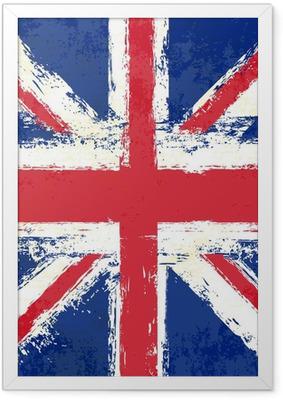 Plakat w ramie Grunge Union Jack