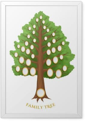 Poster en cadre Arbre généalogique avec des cadres ovales vides