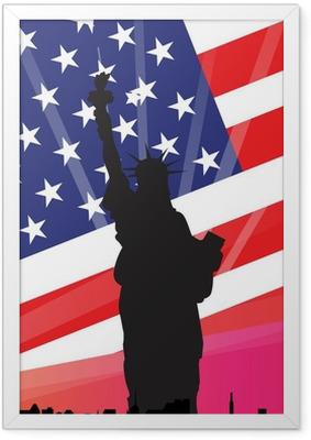 Poster i Ram New York - American Dream