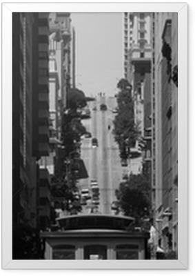 Plakat w ramie Kolejka linowa w San Francisco