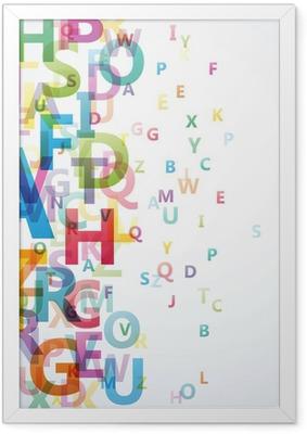 Poster en cadre Résumé couleur Alphabet sur fond blanc # Vector - Destin