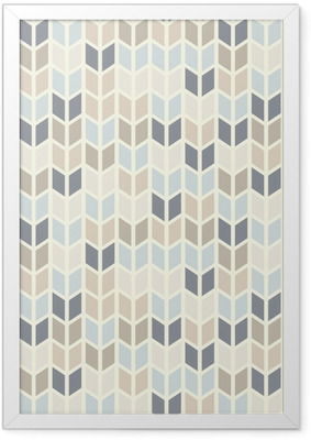 Seamless geometric pattern in pastel tints Framed Poster