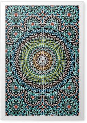 Innrammet plakat Razil maurisk sømløs mønster