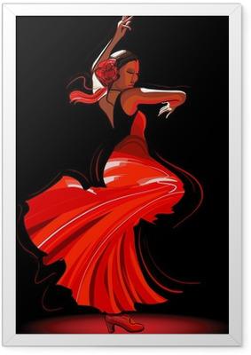 Póster com Moldura flamenco dancer