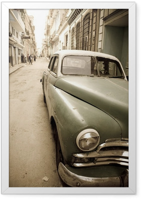 Cuban antique car Framed Poster