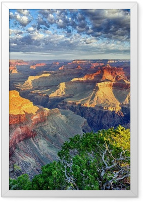 Gerahmtes Poster Morgenstrahlen im Grand Canyon