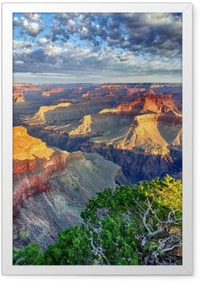 Poster en cadre Lumière du matin au Grand Canyon