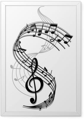 Poster en cadre Musique abstrait art - Sticker mural
