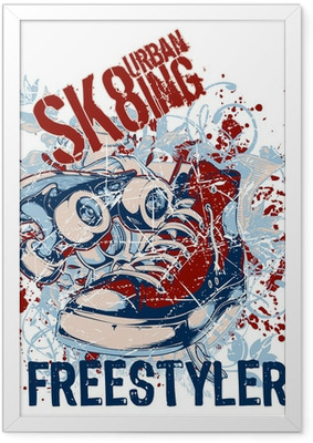 Urban Sk8ing Framed Poster