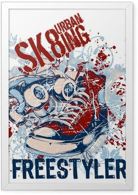 Ingelijste Poster Urban Sk8ing