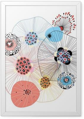 Póster Enmarcado Elementos abstractos
