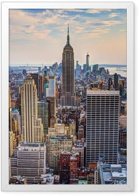 Poster en cadre New York City au crépuscule