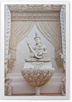 Gerahmtes Poster Thai Engel-Statue