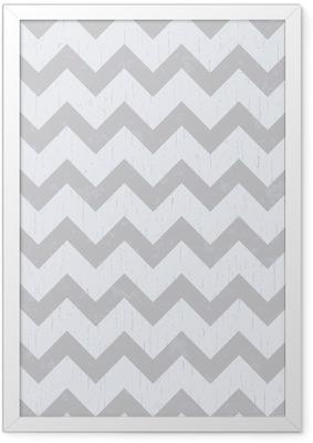 seamless chevron grey pattern Framed Poster