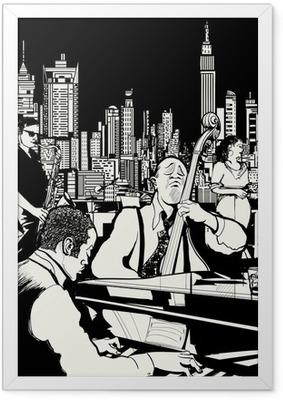 Poster en cadre Orchestre de jazz jouant à New York