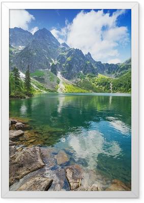 Çerçeveli Poster Tatra Dağları, Polonya Deniz göl Göz
