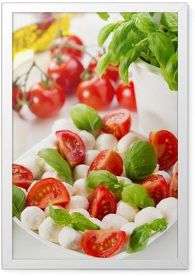 Póster com Moldura salad with mozzarella and tomatoes