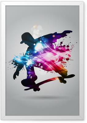 Ingelijste Poster Skateboard