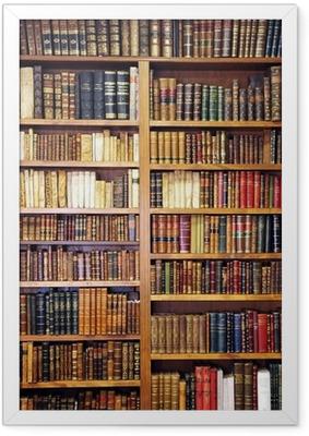 Ingelijste Poster Oude boeken, bibliotheek