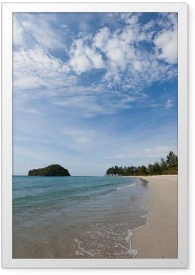 Gerahmtes Poster Kelambu Strand Borneo Malaysia