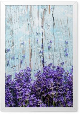 Fresh lavender on wood Framed Poster