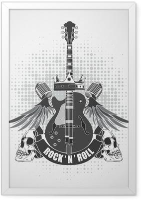Rock n roll symbol Framed Poster
