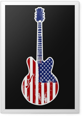 american rock n roll Framed Poster