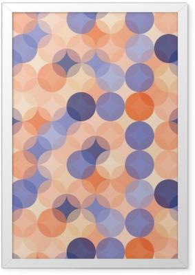 Çerçeveli Poster Vektör Modern kesintisiz renkli geometri desen çevreler, mavi renk turuncu soyut geometrik arka plan, duvar kağıdı baskı, retro doku, yenilikçi moda tasarımı, __